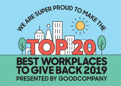 Top 20 Workplaces to Give Back 2019 - TechnologyOne